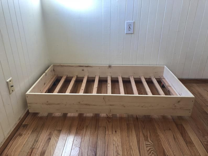 Platform Style Bed Etsy In 2020 Simple Bed Frame Diy Twin Bed