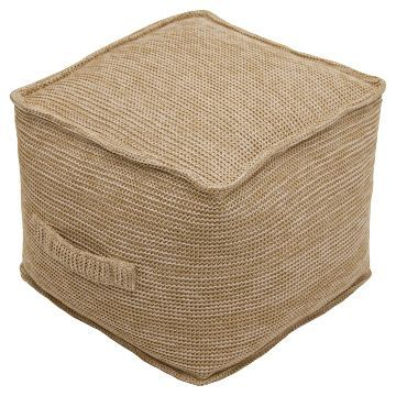 outdoor fabric pouf natural threshold - Outdoor Pouf