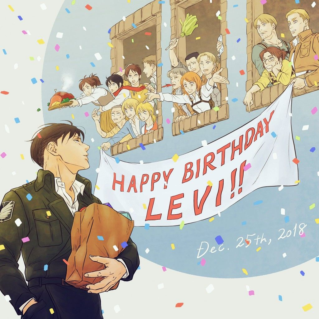 Levi Ackerman Happy Birthday (With images) Attack on