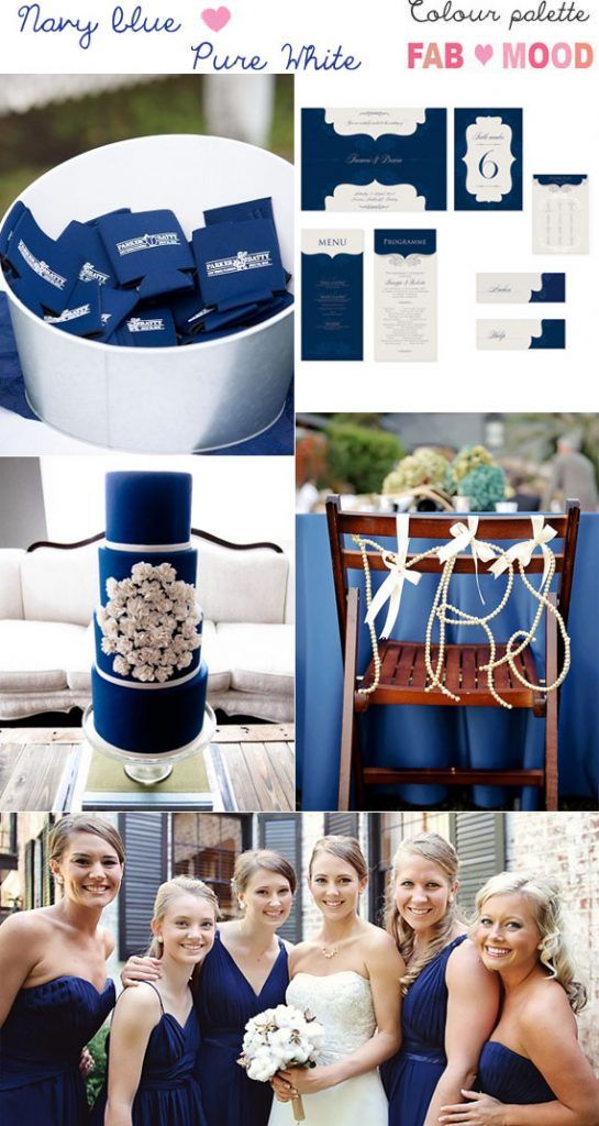 Navy Blue And White Wedding Colour Theme Pinterest Wedding Color