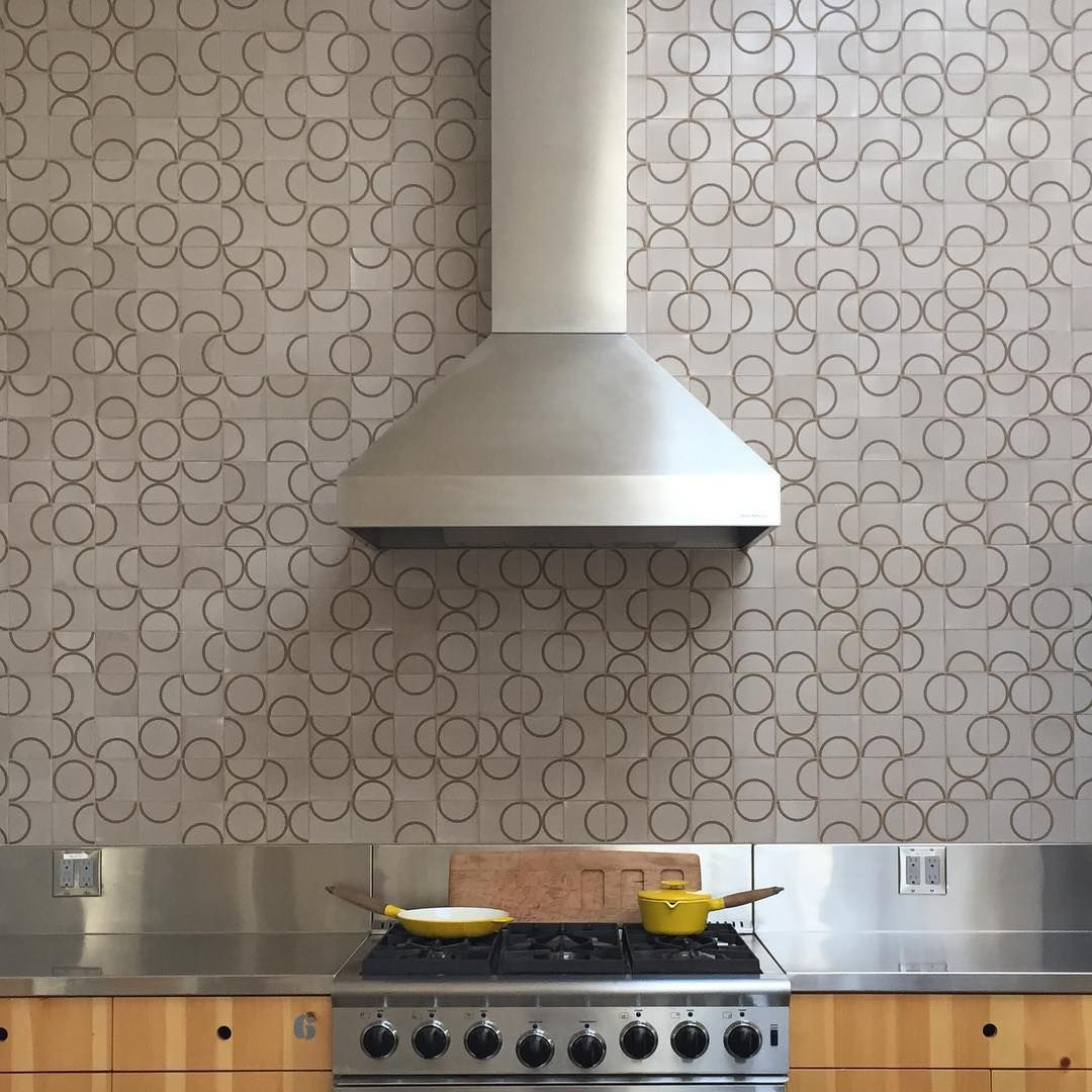 Not All Of Our Studio Experiments Turn Out Well But This One Made It Into Our New Book Tile Makes The Room Scree Kitchen Wall Tiles Printed Tile Modern Tiles