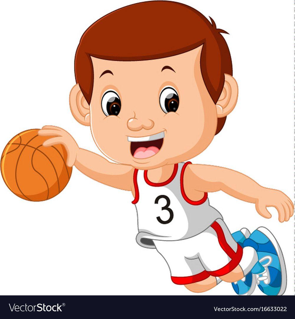 Boys Playing Basketball Sport Vector Image On Chicos Jugando Deportes Jugar