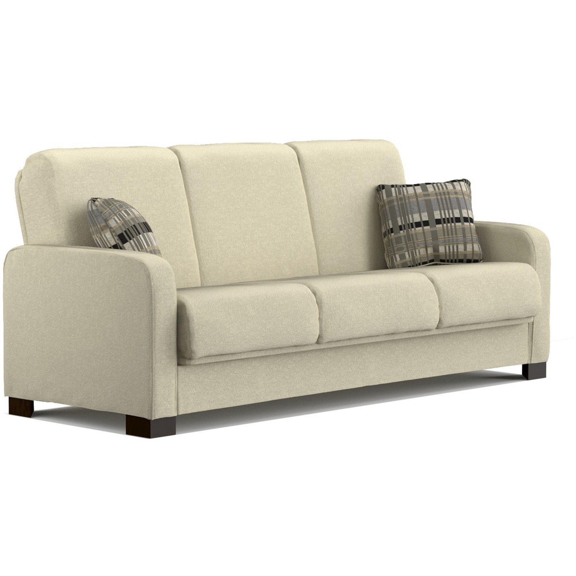 Thora Convert A Couch Ivory Chenille Handy Living Ivory Cumin Modern Sleeper Sofa Couch Futon Sofa