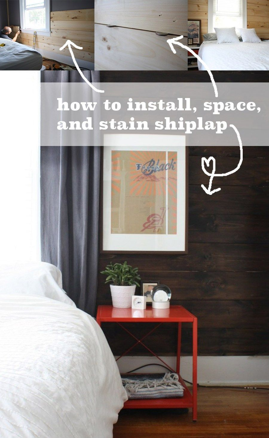 install shiplap boards to create a customized feature wall in your