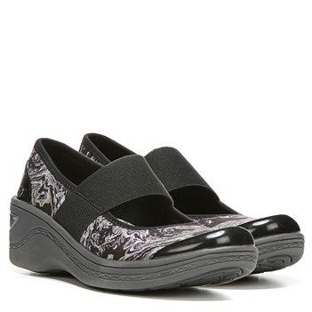 0775d826ed4 Bzees Destiny Shoes (Black Swirl Fabric) - 6.0 M Mary Jane Shoes
