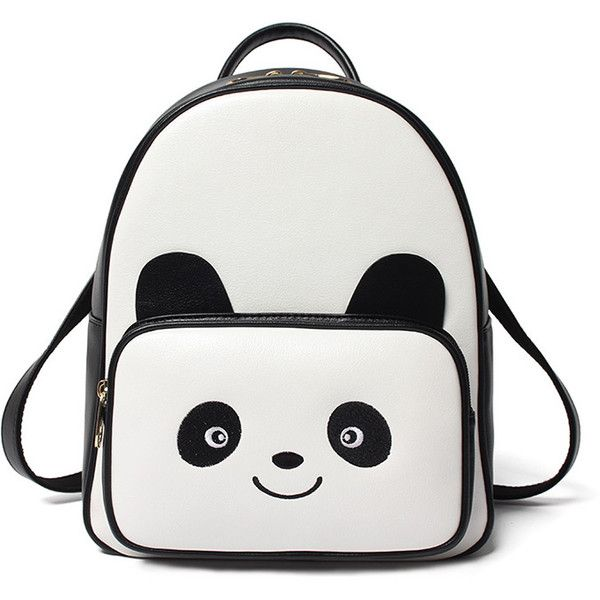 1a12eb1751 Panda Pattern PU Backpack ( 35) ❤ liked on Polyvore featuring bags ...