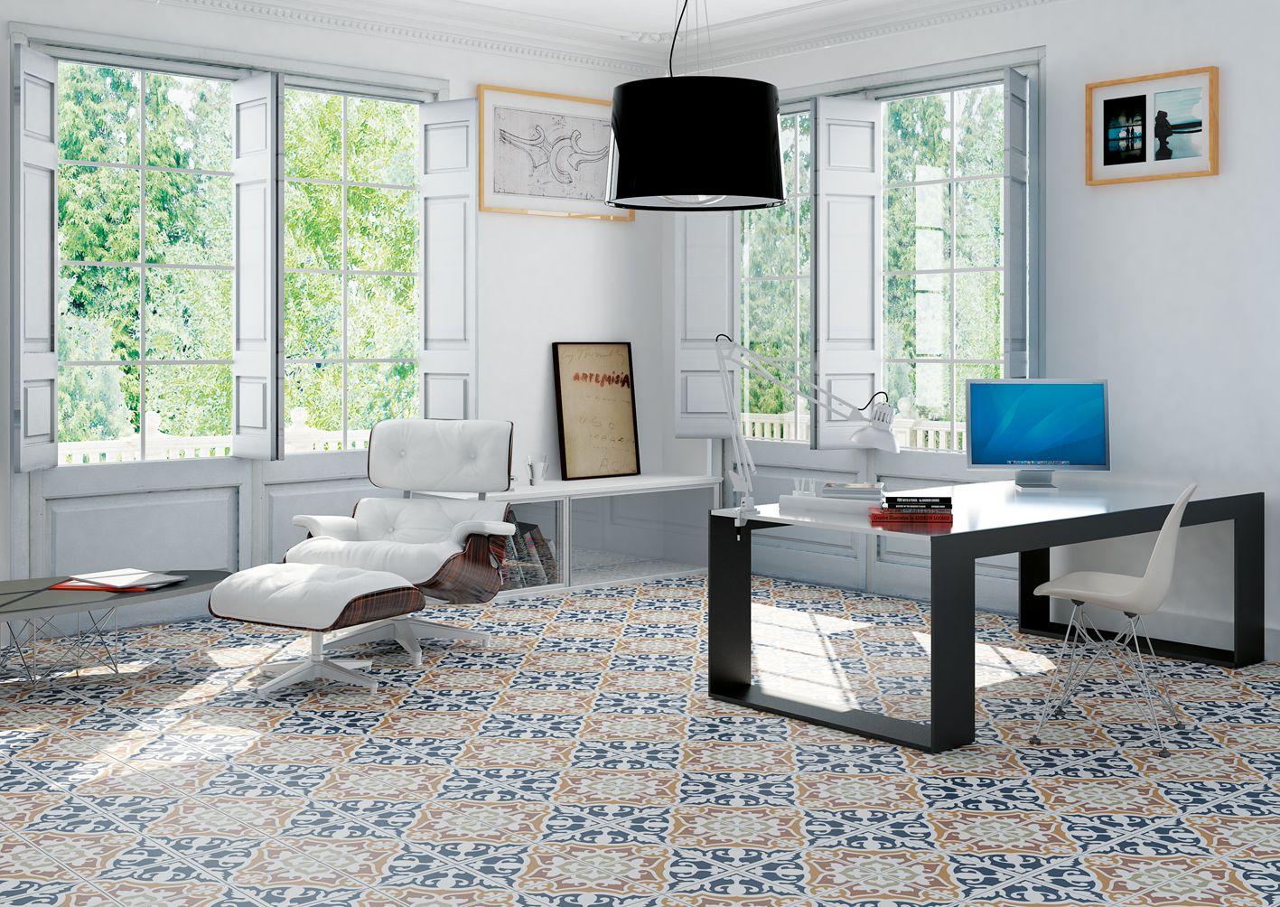Heritage In 2020 Home Office Design Floor Design Patterned Floor Tiles