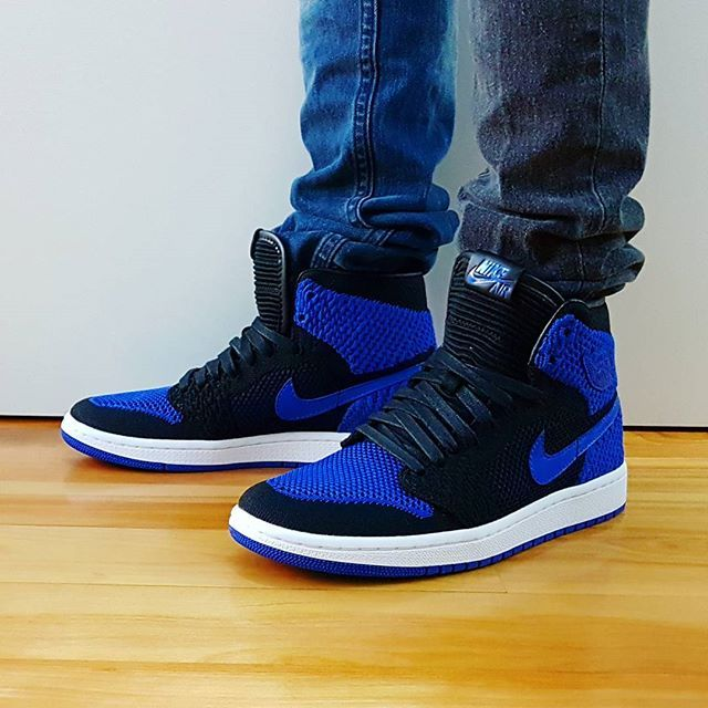 4341ccce49cf64 Go check out my Air Jordan 1 Retro High Flyknit Royal 2017 on feet channel  link in bio.