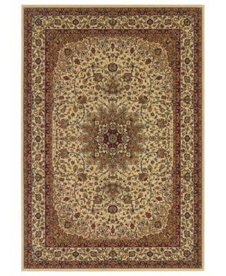 Couristan Area Rug Tamena Tam103 Kashan Ivory 3 11 X 5 3 Persian Area Rugs Kashan Rug Rugs