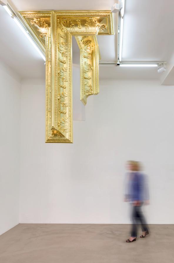 Golden Snake #1 / Mathias Kiss Plâtre moulé et feuilles d'or