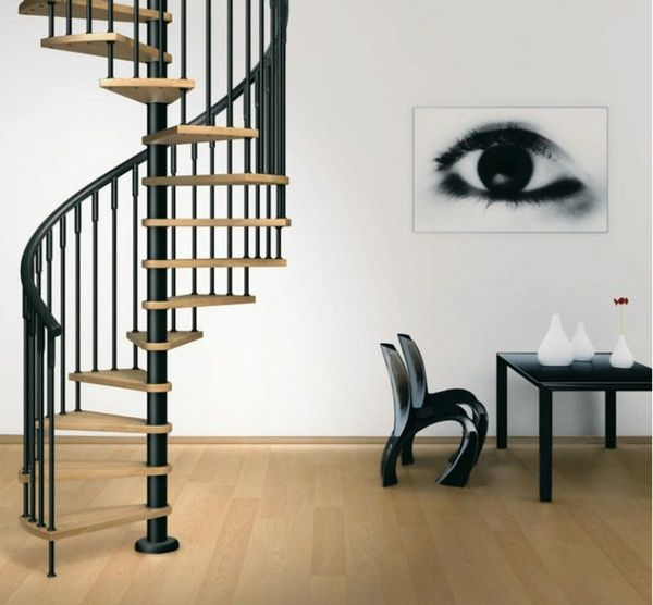 Best Spiral Staircases Design Wooden Stairs Black Metal 400 x 300