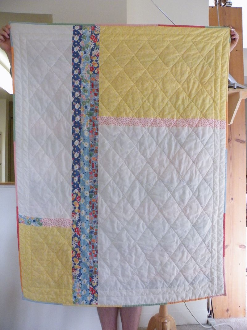 This is an interesting way to change up the back of a quilt.