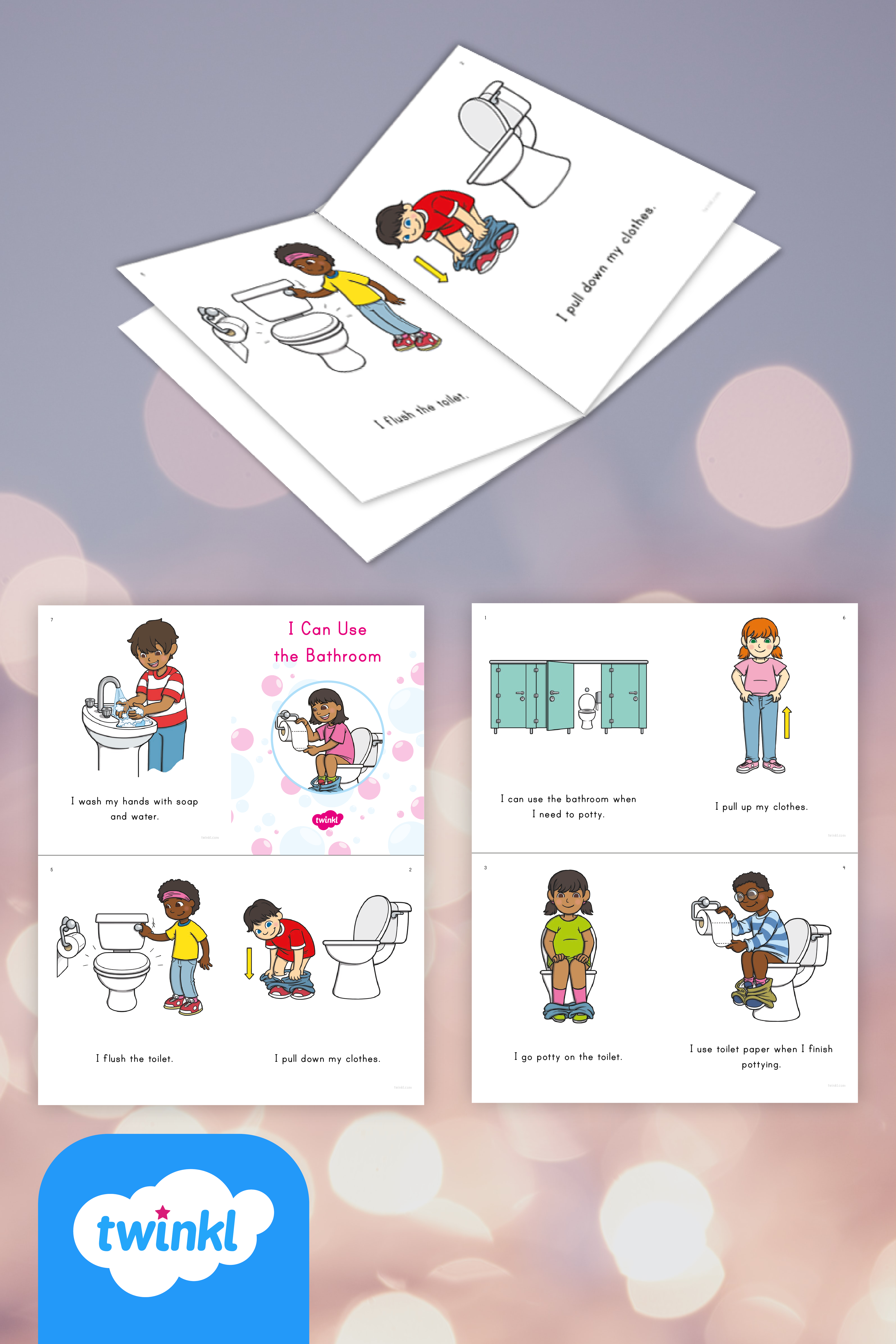 I Can Use The Bathroom Emergent Reader Printable Potty Training Booklet Emergent Readers Literacy Resource Emergency