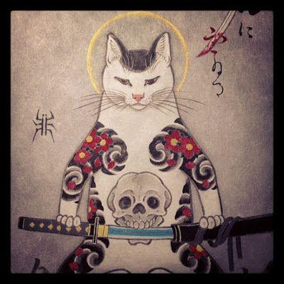 Absyntowy Psot: Koty i tatuaże