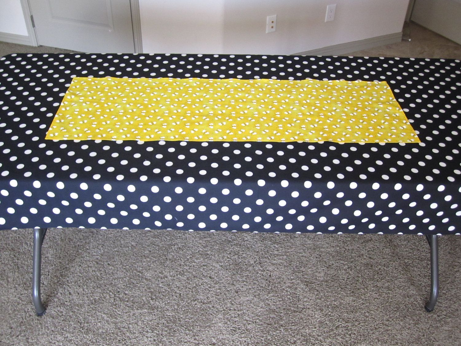 Perfect Bumble Bee Party Decoration   Bee Print Table Runner. $7.50, Via Etsy. |  Blakeu0027s Bee Bash | Pinterest | Bumble Bees, Bees And Decoration