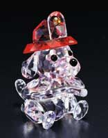 """""""Fireman's Friend"""" by CRYSTAL WORLD will make an ideal gift for fire fighters and volunteers, Dalmatian lovers and crystal collectors. Each Dalmatian crystal figurine measures 1 5/8"""" tall. Gift boxed."""