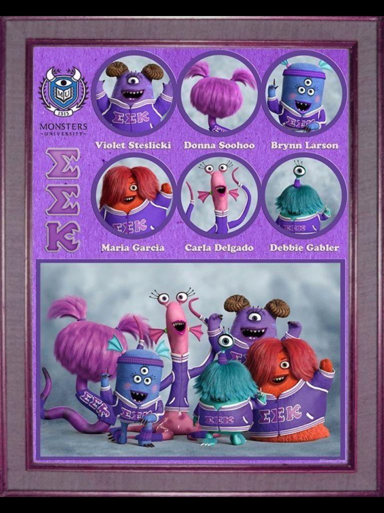 Members Of Team Eek Monster University Disney Monsters Disney Pixar