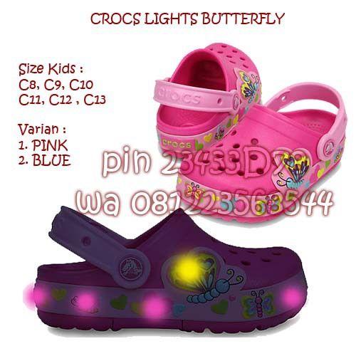 Sandal Sepatu Anak Crocs Lights Butterfly Sepatu Anak Sandal