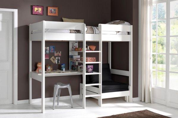 Pino hoogslaper bureau en uitschuifbare bank slaapkamer jurre