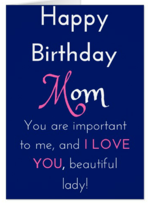 African American Happy Birthday Mom Greeting Cards For