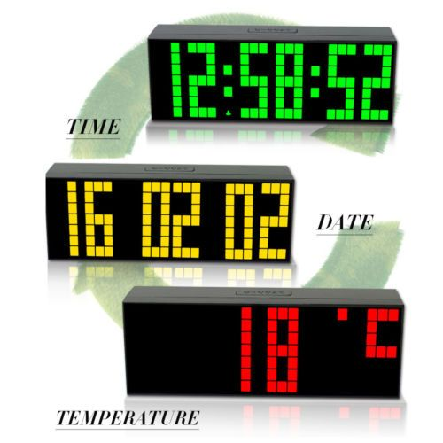 On Sale Large Big Screen Led Digital Wall Clock Table Alarm Watch Thermometer Snooze New Clock Table Clock Digital Wall
