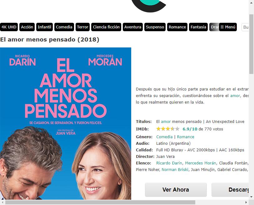 El Amor Menos Pensado 2018 Online O Descargar Gratis Hd Ricardo Darin Amor Pensando En Ti