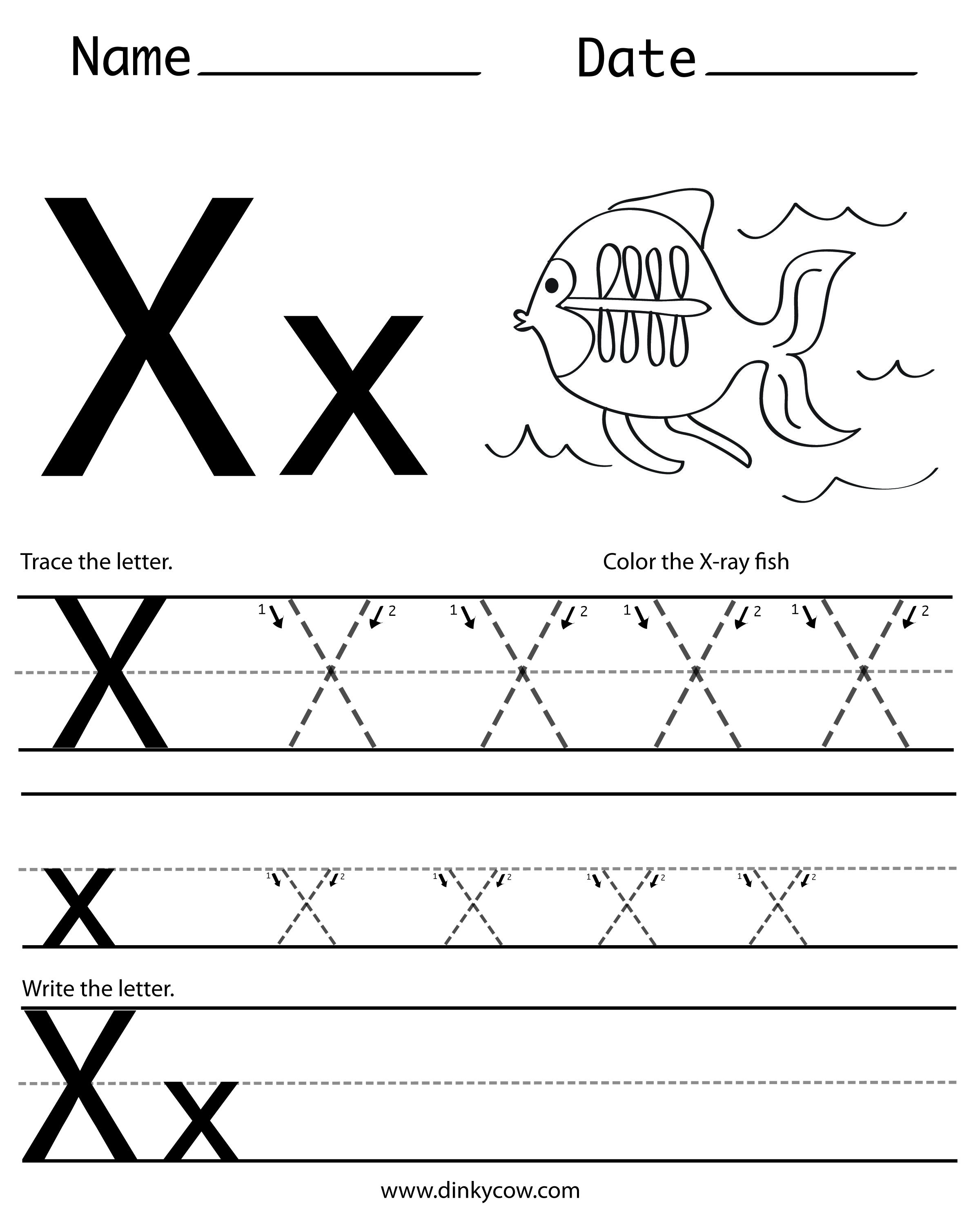 X Free Handwriting Worksheet Print 2 400 2 988 Pixels