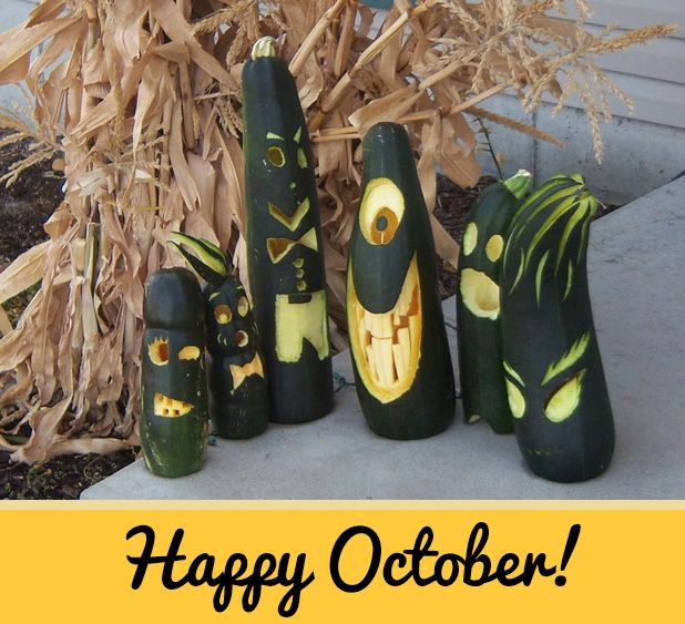 Giant Zucchini Carving is on my to-do list for Halloween this year!