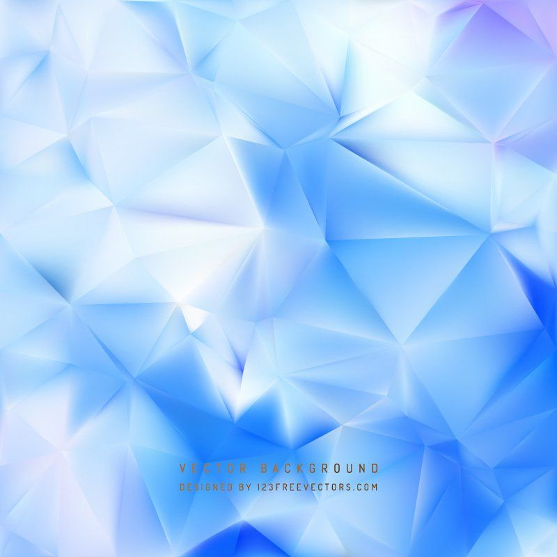 Abstract Light Blue Geometric Polygon Background Vectors
