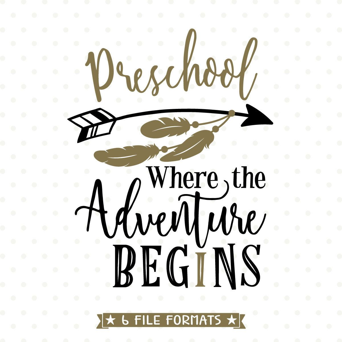 First Day of School SVG file, 1st Day of Preschool Iron on