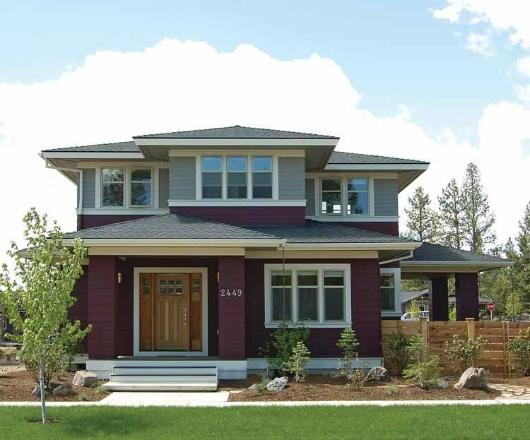 Merveilleux Prairie Style House Plans Craftsman Home Collection Eplans Designs From