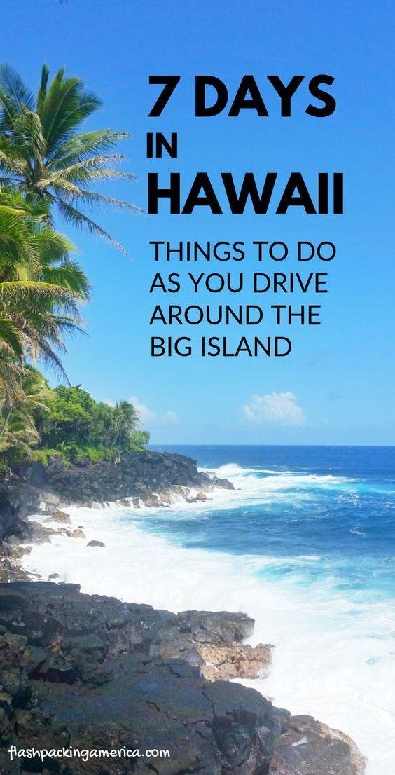7 day Hawaii itinerary