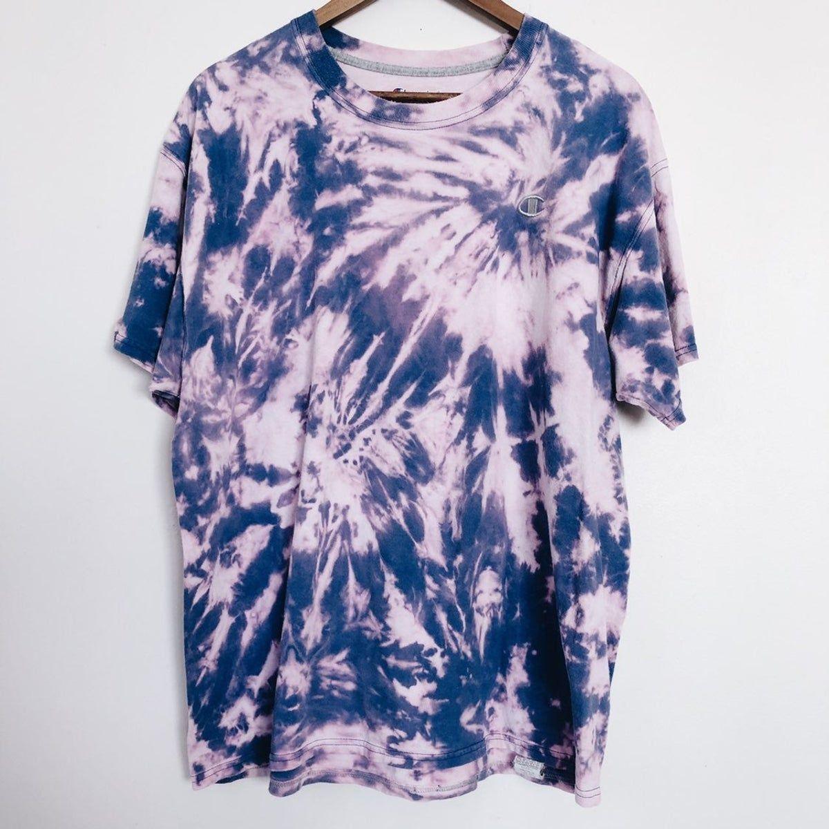 Champion Tie Dye Bleached T Shirt in 2020 | Bleach t shirts