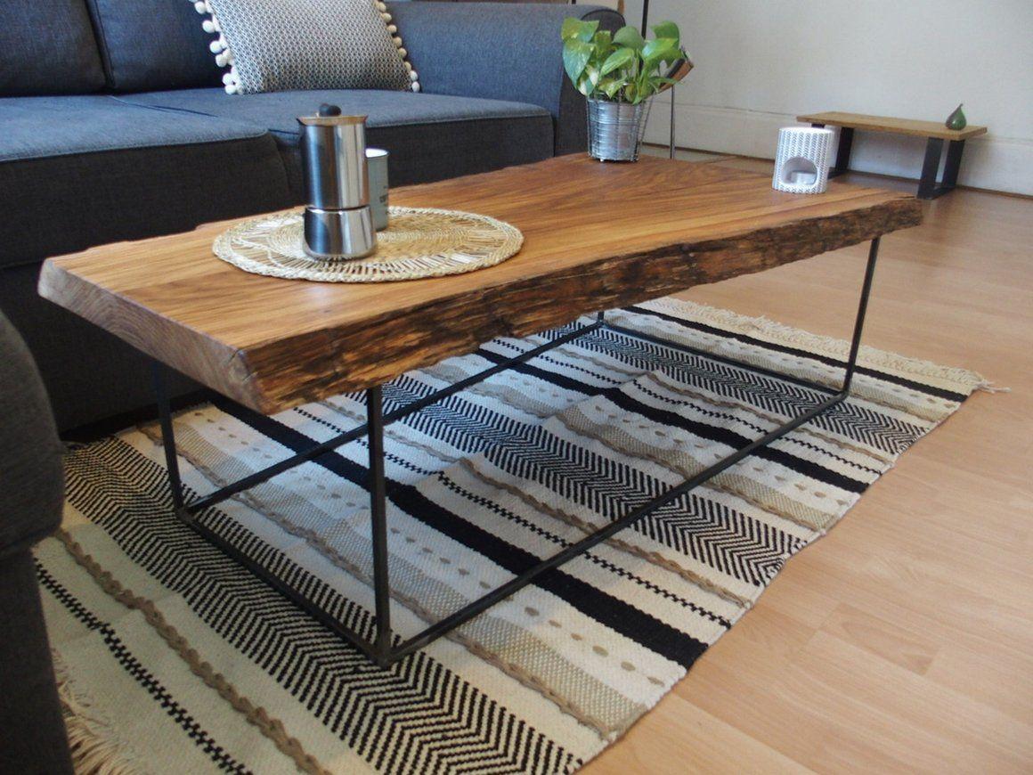 Atelier Boyet Table Basse Chene Massif Brut Ecorce Style Industriel Table Basse Table Basse Bois Brut Table Basse Chene