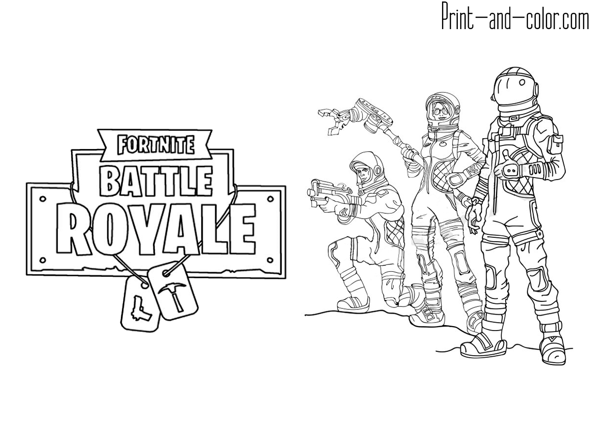 Fortnite in 2019 Coloring pages Color