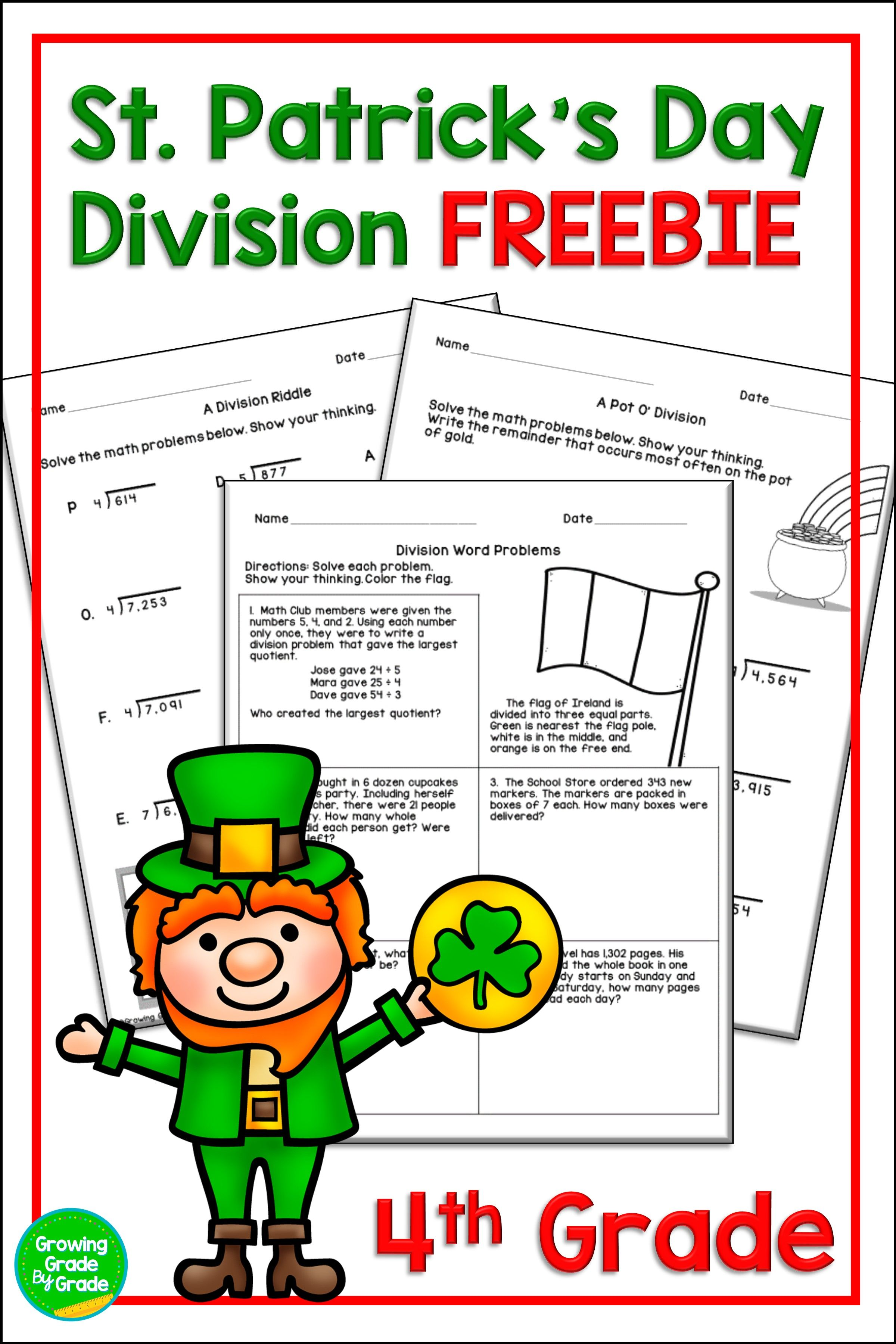 St Patrick S Day Math Worksheets Freebie