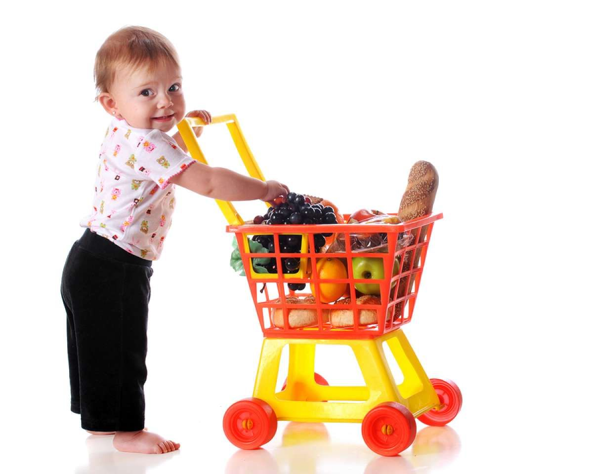 Playing Grocery Shopping With A Cart Can Be A Great