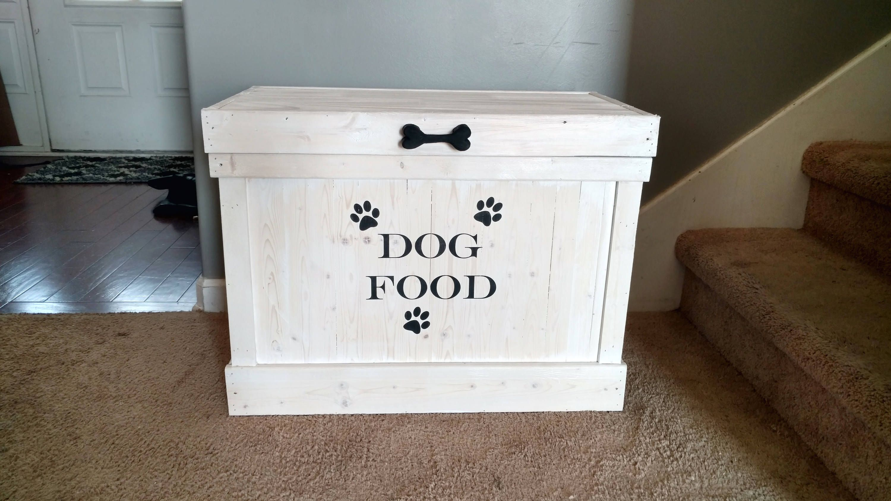 Dog Food Storage Container  Pet Food Storage  Rectangle Dog Food Holder  Dog  Food Bin  Pet Storage Bin  Large Dog Food Storage Cabinet  Home