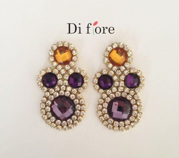 Elegant earrings handmade earrings by DiFioreAccessories on Etsy