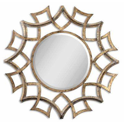Buy Uttermost Demarco Round 40 Inch Round Wall Mirror In Antique