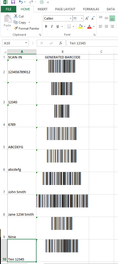 How To Setup An Excel Sheet For Scanning And Instant Barcode Generation Barcode Excel Scan