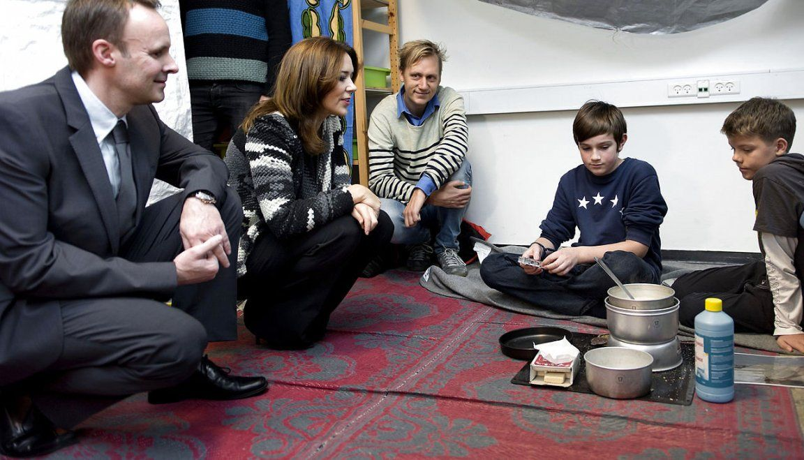 Princess Mary of Denmark visited a school in Copenhagen on the international day for children's rights. 20 November 2014
