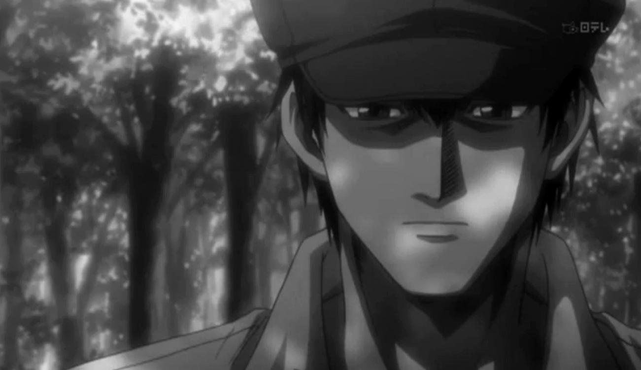 Minakami Mario, Rainbow:Nisha Rokubou no Shichinin, anime, japanese, japan, black and white.