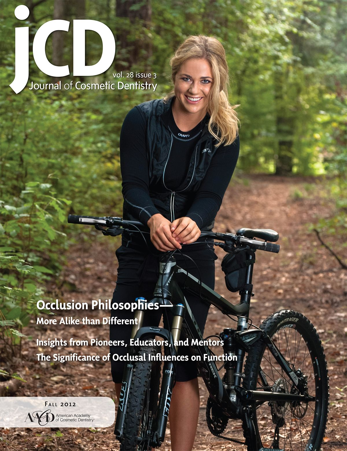Journal of cosmetic dentistry cover model smile design by