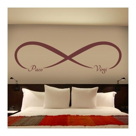 Vinilos de amor infinito tatoo pinterest vinilos for Pegatinas pared dormitorio