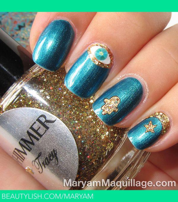 89799d40e57c1 Islamic / Arabic Inspired Nail Art   Nails   Nail art, Holiday nail ...