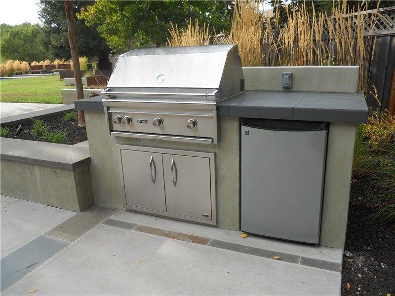 outdoor kitchen fridge outdoor refrigerator stainless steel grill outdoor refrigerator kitchen huettl landscape architecture walnut creek ca