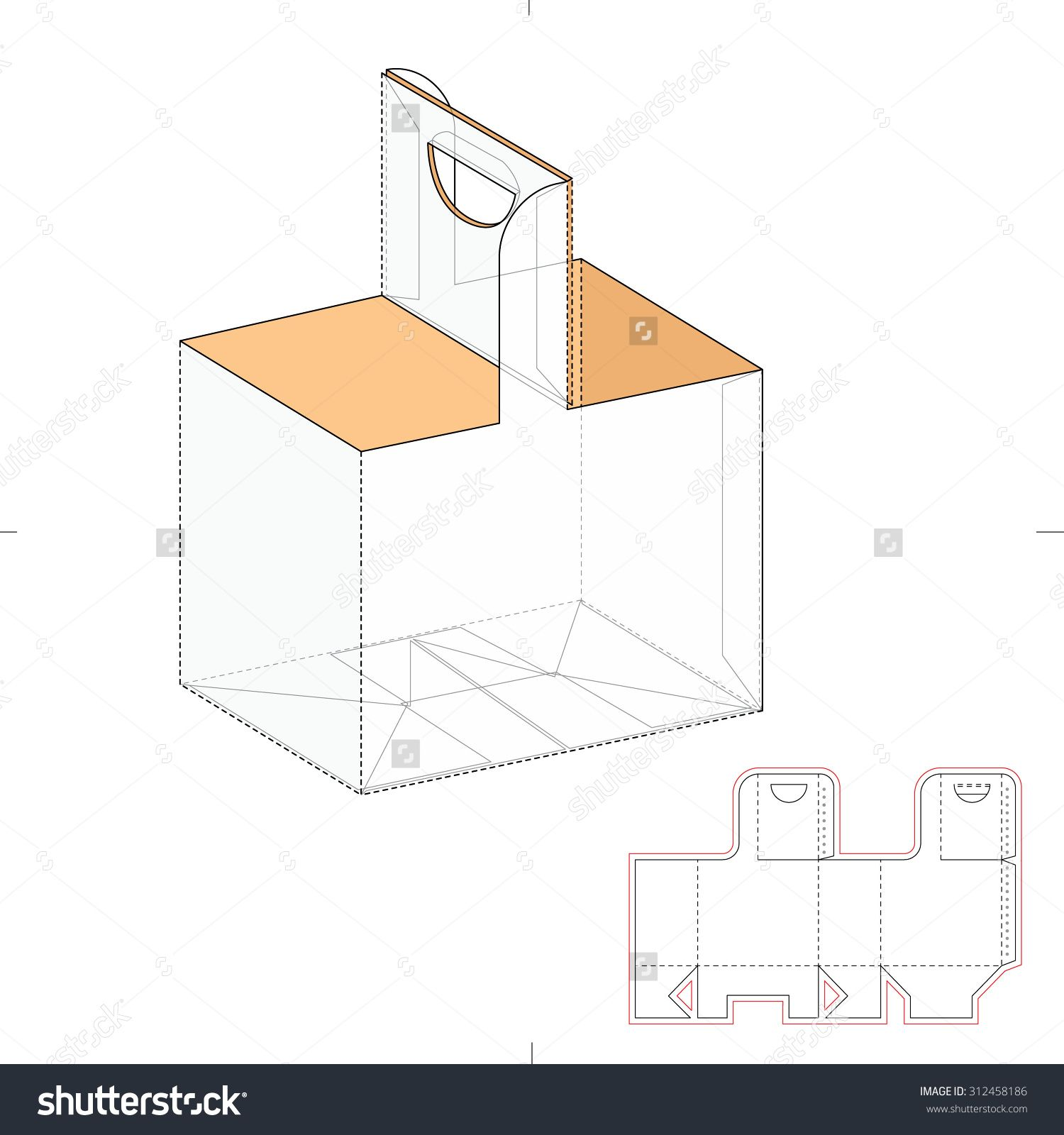 Box carrier with die line template stock vector illustration box carrier with die line template stock vector illustration 312458186 shutterstock pronofoot35fo Gallery