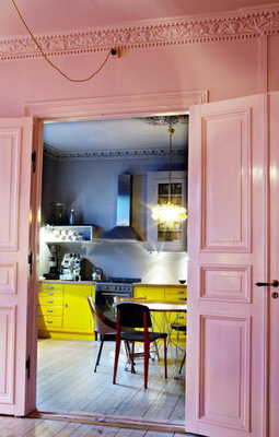Pink Wall The Yellow