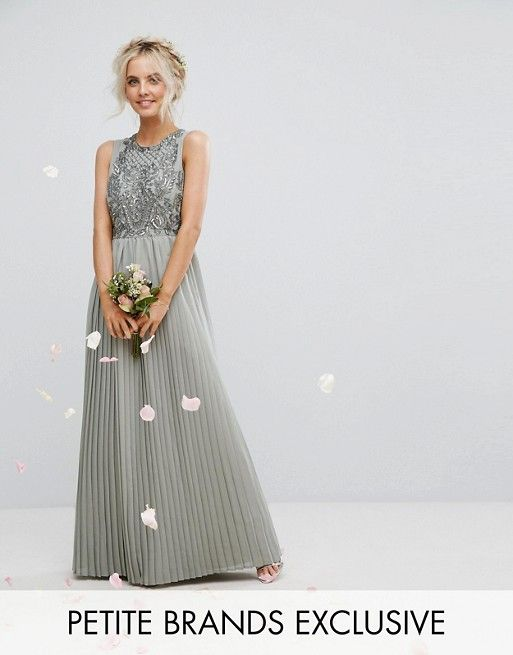 Maya Petite Embellished Top Maxi Dress With Pleated Skirt | Dresses ...